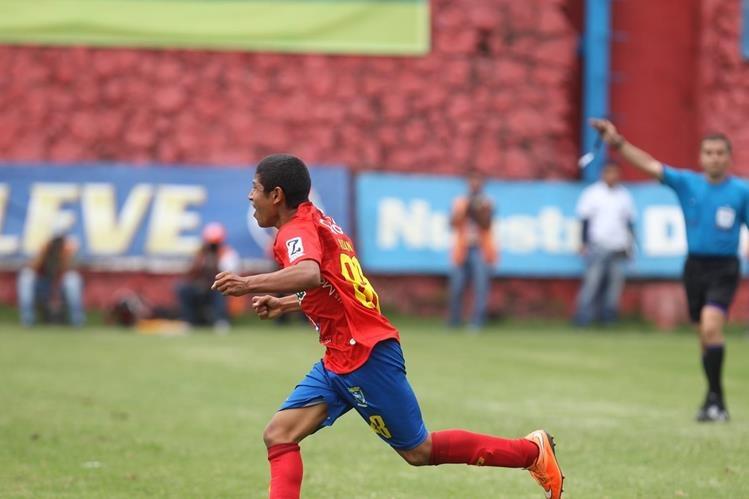 Pedro Altán conquistó su primera diana con el equipo mayor rojo en el torneo el domingo ante la universidad.