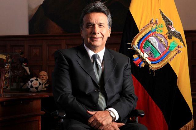 Lenín Boltaire Moreno Garcés actual presidente electo de Ecuador. (Foto Prensa Libre: Hemeroteca)