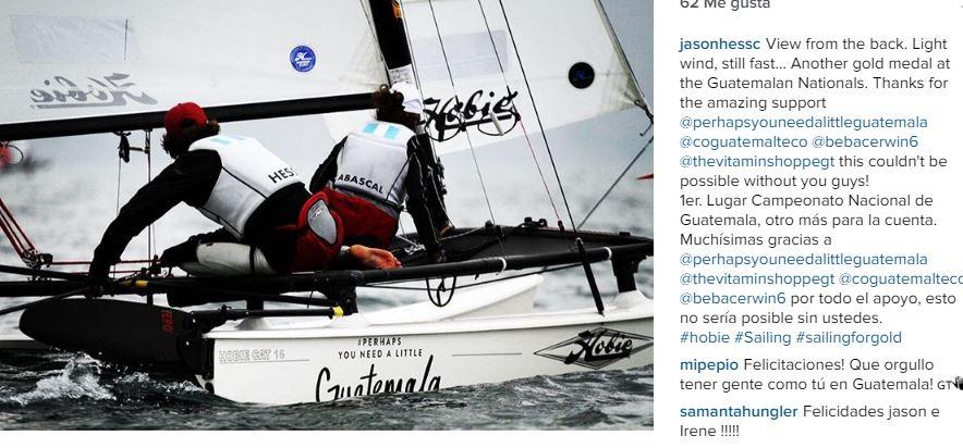 Hess festejó así en su cuenta de Instagram. (Foto Prensa Libre: Instagram)