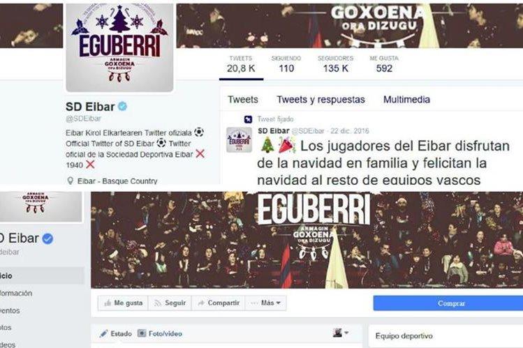 El Eibar ha comenzado a buscarse un espacio dentro del mundo de las redes sociales con sus cuentas oficiales en twitter y facebook. (Foto Prensa Libre: Internet)