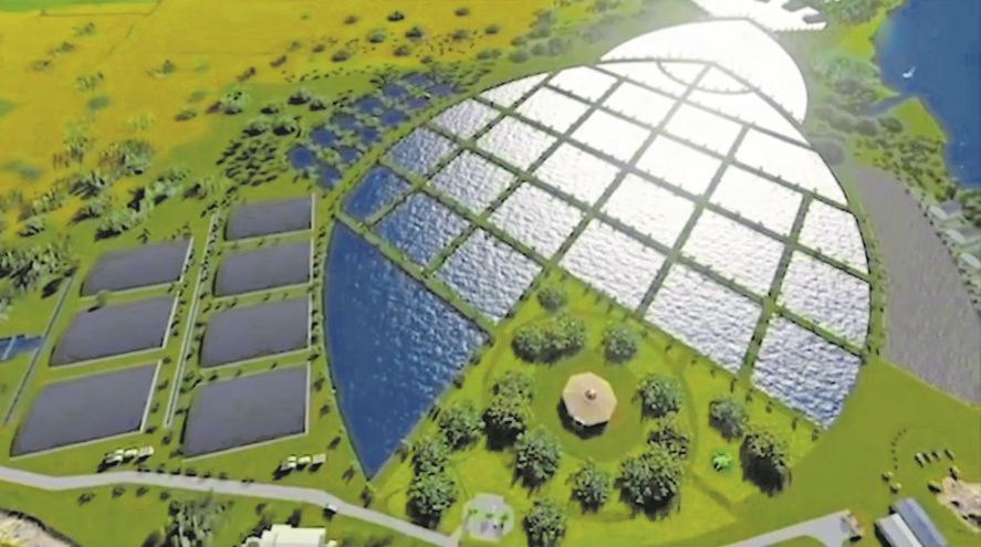 El proyecto de lagunas y humedades para salvar el Lago de Amatitlán tiene forma de mojarra. (Foto Prensa Libre: Amsa)