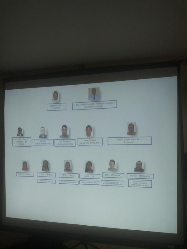 Estructura encabezada por Héctor Rodríguez, ex sub director de Apoyo y Logística de la PNC. (Foto Prensa Libre: MP)