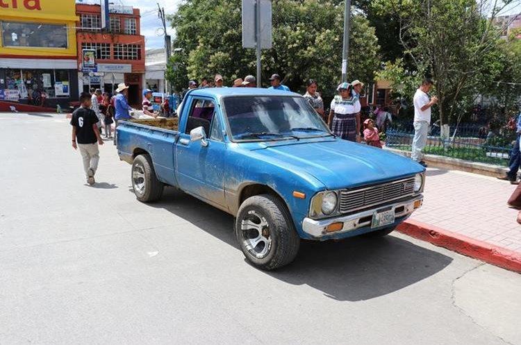Picop que supuestamente había robado Samuel Osorio (Foto Prensa Libre: Héctor Cordero)