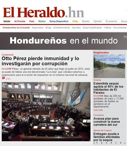 "POTADA DE ""EL HERALDO"" DE HONDURAS."