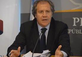 Luis Almagro, secretario general de la Organización de Estados Americanos.