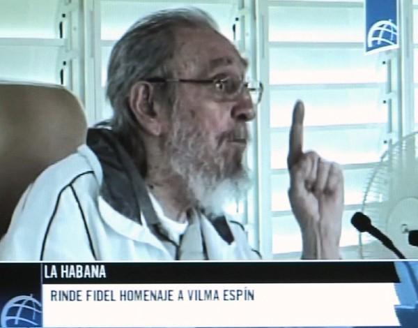 Imagen tomada de la Televisión cubana de Fidel Castro. (EFE).