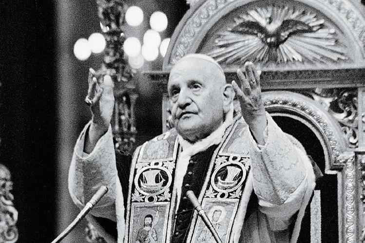 Juan XXIII durante el Concilio Vaticano II, en 1962. (Foto Prensa Libre: AP)