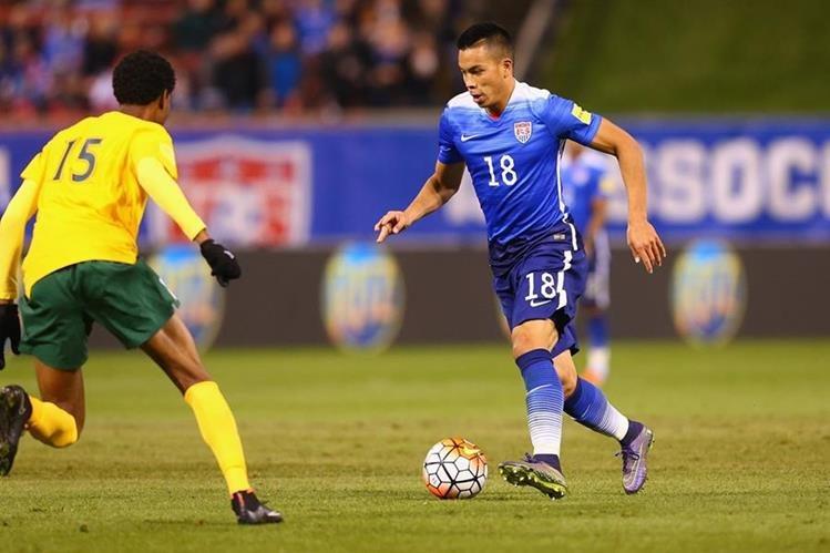 La Selección de Estados Unidos goleó 6-1 a su similar de San Vicente y las Granadinas en la primera jornada de la fase de grupos. (Foto Prensa Libre: AFP)