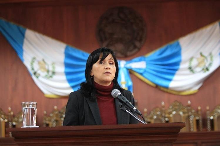 Presidenta de la CC busca su reelección a través del Congreso (Foto Prensa Libre: Hemeroteca PL)