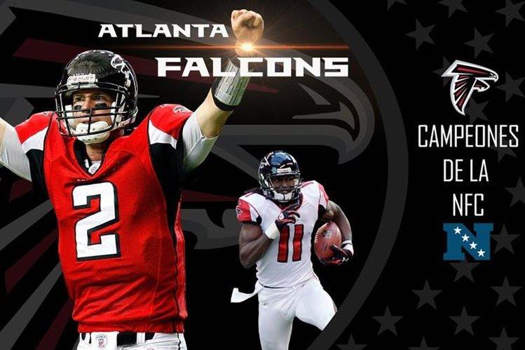 Los Falcons disputarán el Super Tazón tras ganar su conferencia. (Foto Prensa Libre: Twitter)