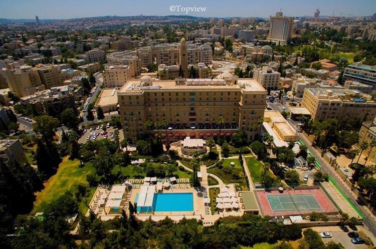 Hotel Rey David, vista panorámica del hospedaje cinco estrellas en Israel. (Foto Prensa Libre tomada del Facebook King David Hotel)