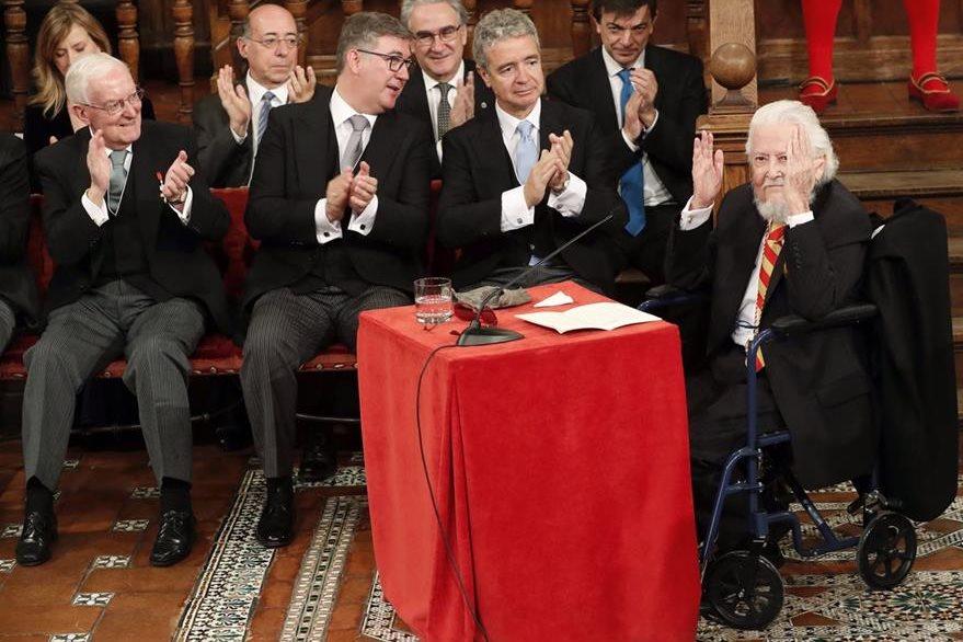 El escritor mexicano Fernando del Paso, ganador del Premio Cervantes. (Foto Prensa Libre: EFE)