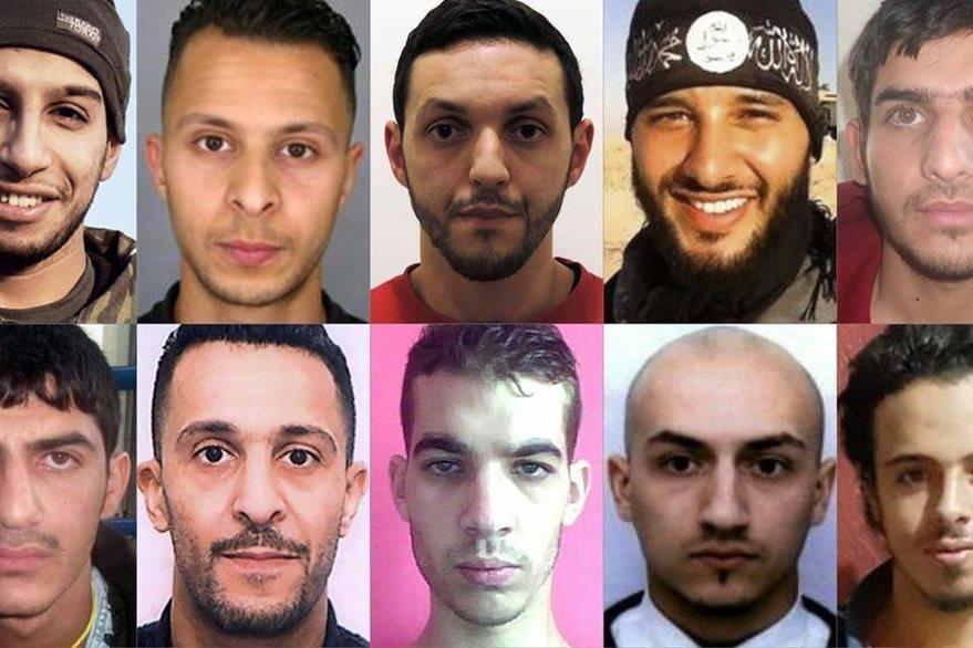 Francia y Bélgica distribuyen fotos de los responsables de ataques en París. (AFP)