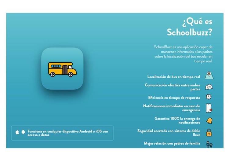 Instrucciones para utilizar la aplicación SchoolBuzz. (Foto Prensa Libre: Cortesía)