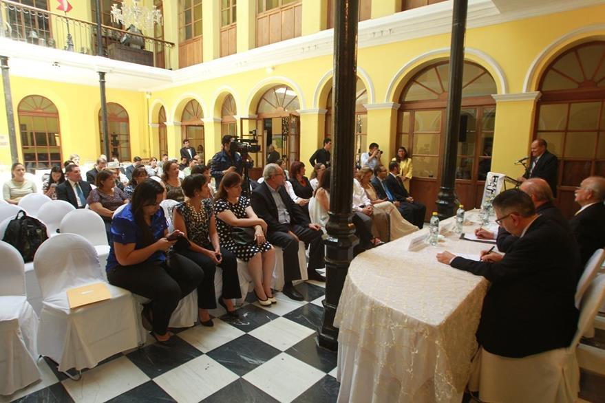 Trabajos de restauración del Museo de Historia fueron inaugurados. (Foto Prensa Libre: Ángel Elías)
