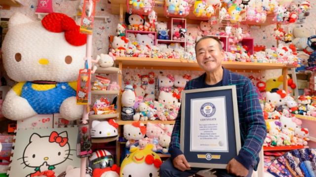 Masao Gunji en noviembre fue reconocido como el mayor coleccionista. (Foto Prensa Libre: guinnessworldrecords.es)