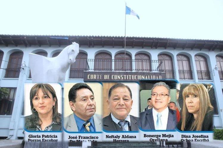 La presidencia de la Corte de Constitucionalidad la ejercen los magistrados por un año. (Foto Prensa Libre: Hemeroteca PL)