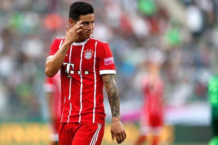 James Rodríguez jugó su primer partido con el Bayern Múnich. (Foto Prensa Libre: EFE)