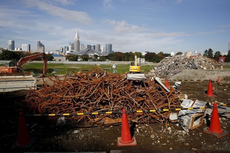 Así luce el área donde construirán el nuevo estadio Olímpico de Tokio. (Foto Prensa Libre: tk.ismcdn.jp)