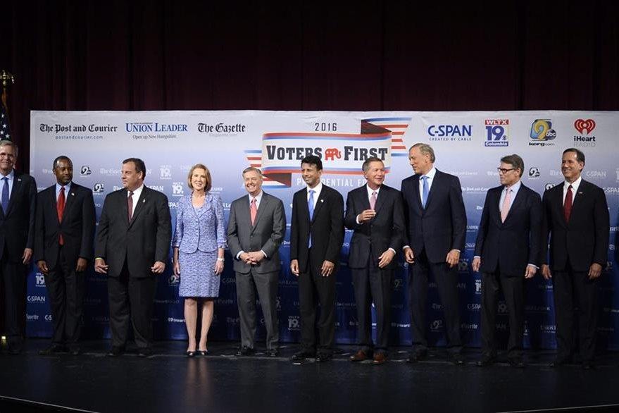 Candidatos republicanos a la Presidencia de los EE.UU. asisten al foro. (Foto Prensa Libre: EFE).