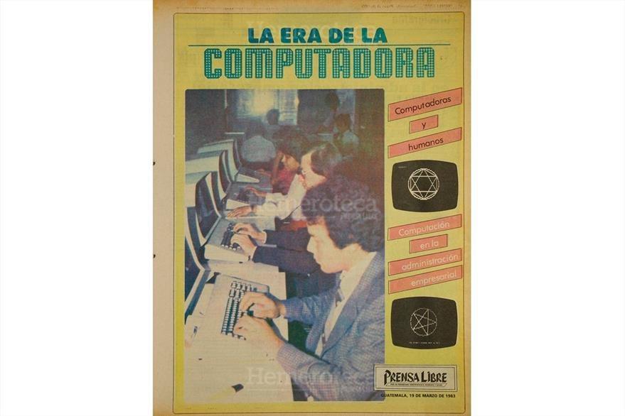 Así eran las computadoras en marzo de 1983. (Foto: Hemeroteca PL)