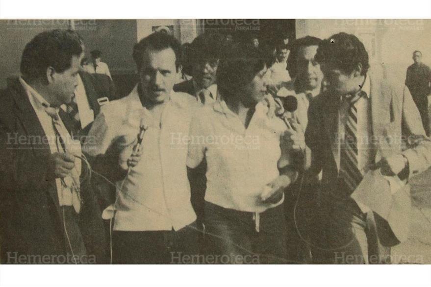 Los esposos Julio Estuardo Palma Lau y María Luisa Escobar Hernández, fueron  liberados  por los tribunales de fuero especial, 02/03/1983. (Foto: Hemeroteca PL)