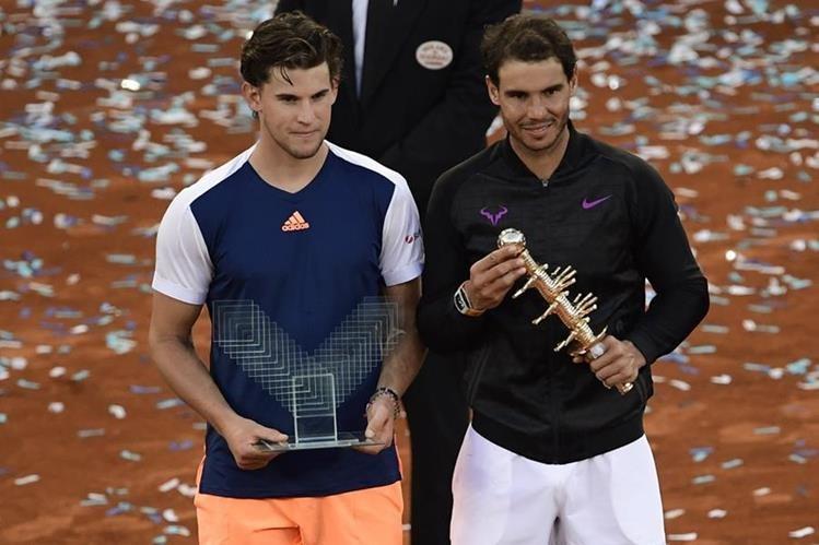 Rafa Nadal se consagró en el Masters 1000 de Madrid, España. (Foto Prensa Libre: AFP).