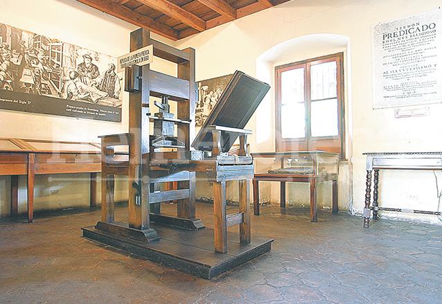 Una réplica exacta de la imprenta se encuentra en la primera sala del museo.  (Foto: Hemeroteca PL)