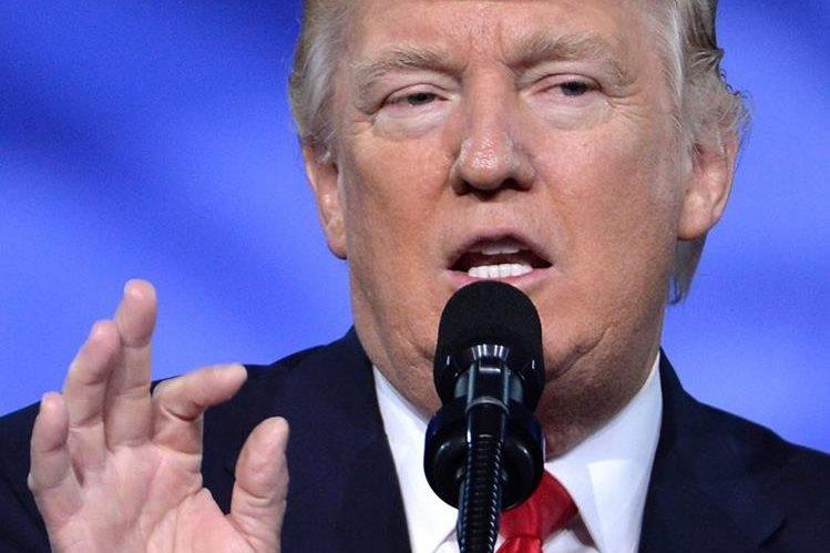 """Donald Trump, presidente de EE. UU. tendrá esta noche una """"gran cena"""". (Foto Prensa Libre: AFP)."""