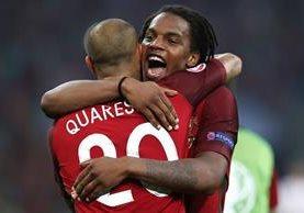 Con tan solo 18 años, Sanches ya es figura para Portugal en la Eurocopa 2016. (Foto Prensa Libre: AFP)