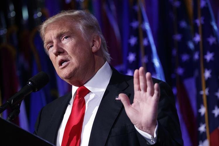 Donald Trump, presidente electo de EE. UU. (Foto Prensa Libre: AP)
