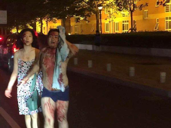 Varios heridos se han visto ingresar a los hospitales. (Foto: Twitter).
