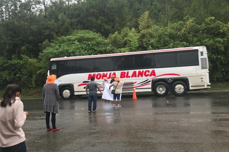 Pacay se trasladó en bus desde la ciudad capital hasta Cobán. (Foto Prensa Libre: Eduardo Sam Chun)