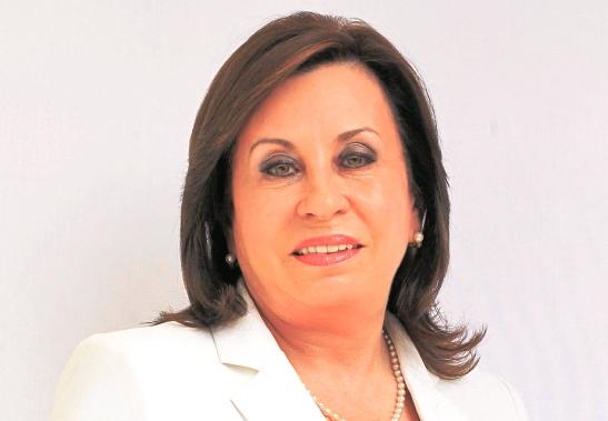 Sandra Torres, candidata presidencial por el partido UNE.