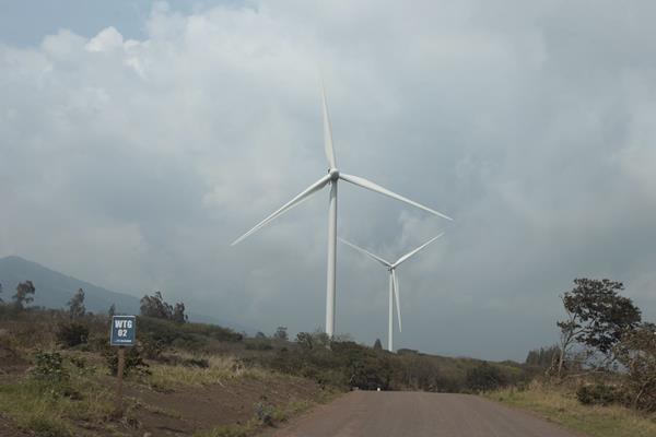 Dieciseis aerogeneradores conforman el proyecto; estos se ubican a 300 metros de distancia cada uno.