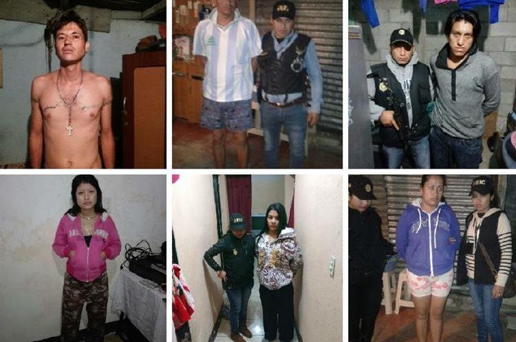 Capturados son señalados de al menos 22 hechos de violencia. (Foto Prensa Libre: PNC)