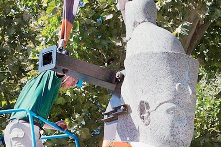 Estatuas llegan a una exposición en Egipto: (Foto Prensa Libre: Hemeroteca PL)