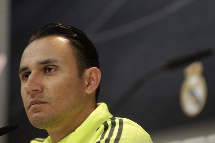 El guardameta Keylor Navas espera hacer un buen papel en el duelo frente al Barcelona. (Foto Prensa Libre: EFE)