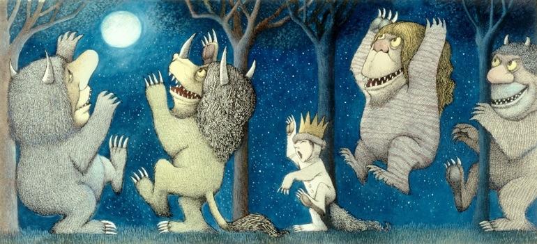 Ilutración del libro Donde viven los monstruos. (Foto Prensa Libre: Hemeroteca PL)