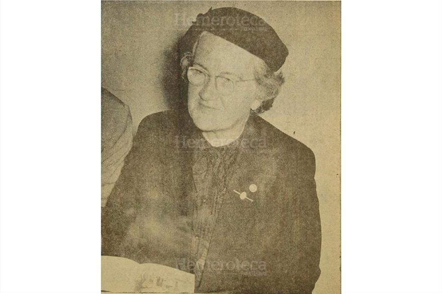 Doña Rosa Castañeda de Mora, es electa la mujer del año 1955. ( Foto: Hemeroteca PL)