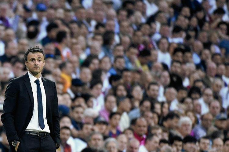 El entrenador del Barcelona Luis Enrique. (Foto Prensa Libre: AFP)