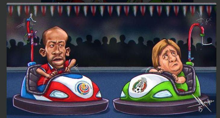 Uno de los memes del internet compara la pelea de Wanchope con el destituído técnico de México, Miguel Herrera.