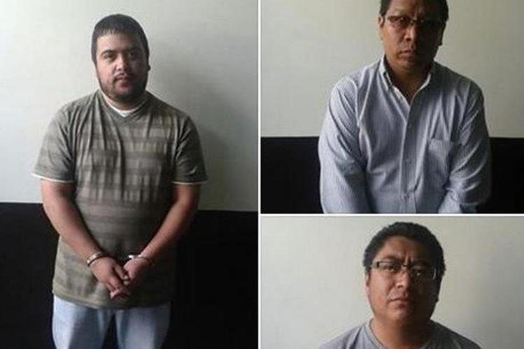Los tres capturados sindicado de hurto agravado, en Quetzaltenango. (Foto Prensa Libre: PNC)