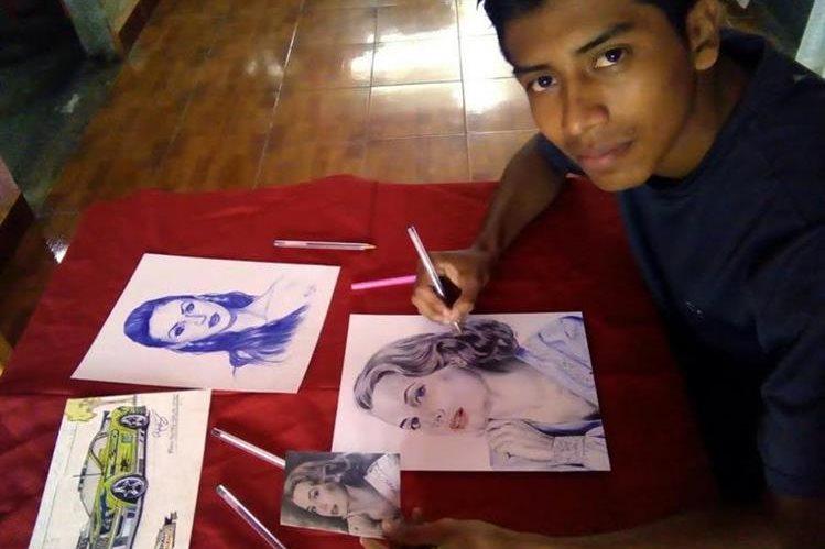 Eduardo Niz asegura que retratar a una persona a la perfección requiere unas 24 horas. (Foto Prensa Libre: Colaboración).