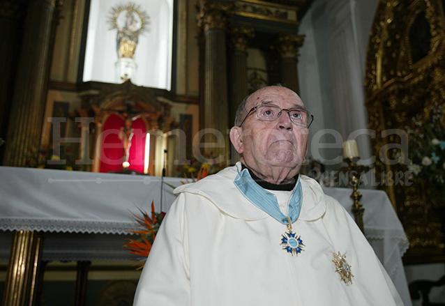 Padre José María Delgado Varela en el Templo de Capuchinas. (Foto: Hemeroteca PL)