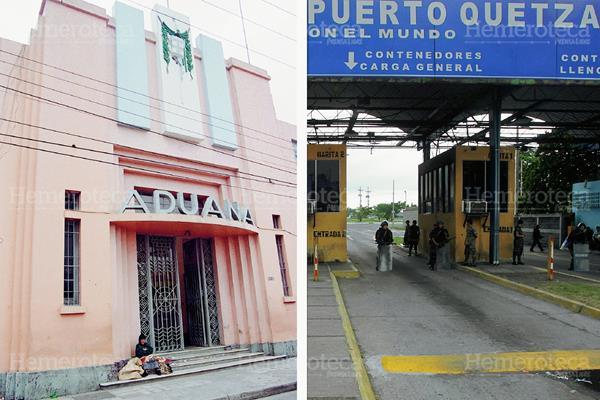 Antigua Aduana Central y garita de Puerto Quetzal. (Foto: Hemeroteca PL)