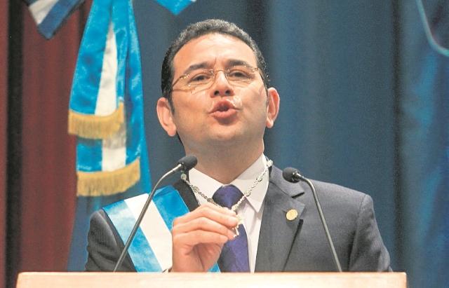 Jimmy Morales asumió la presidencia el 14 de enero último. (Foto Prensa Libre: Hemeroteca PL)