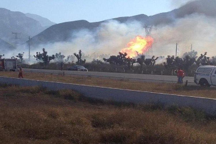 <em>&nbsp;Explosión de gasoducto de estatal Pemex en norte de México.</em>