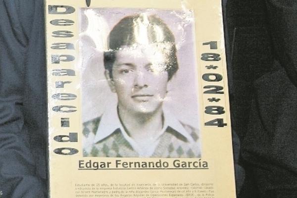 <p>El estudiante universitario Edgar Fernando García despareció en 1984. (Foto Prensa Libre: Archivo)<br></p>