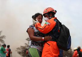Área afectada por la erupción del Volcán de Fuego